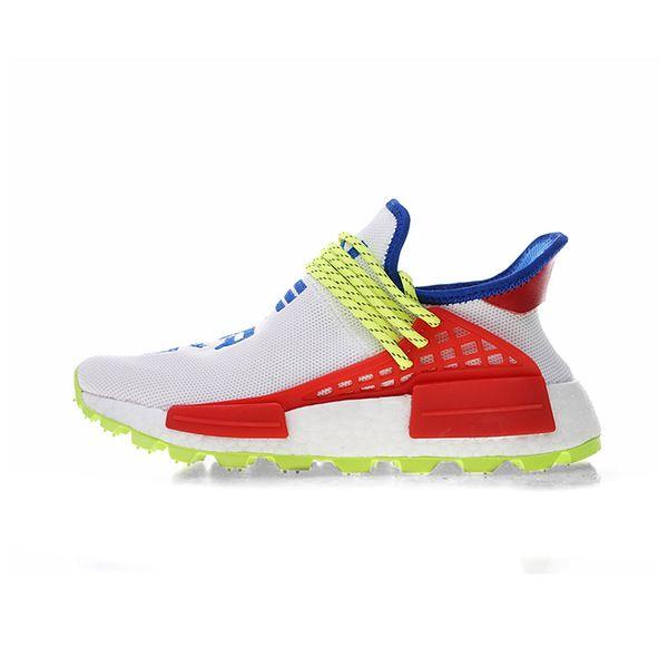 Compre Nueva Llegada Raza Humana Afro Hu Trial Pack Solar Pharrell Williams Hombres Zapatillas NERD Zapatillas De Deporte Blancas Zapatillas De