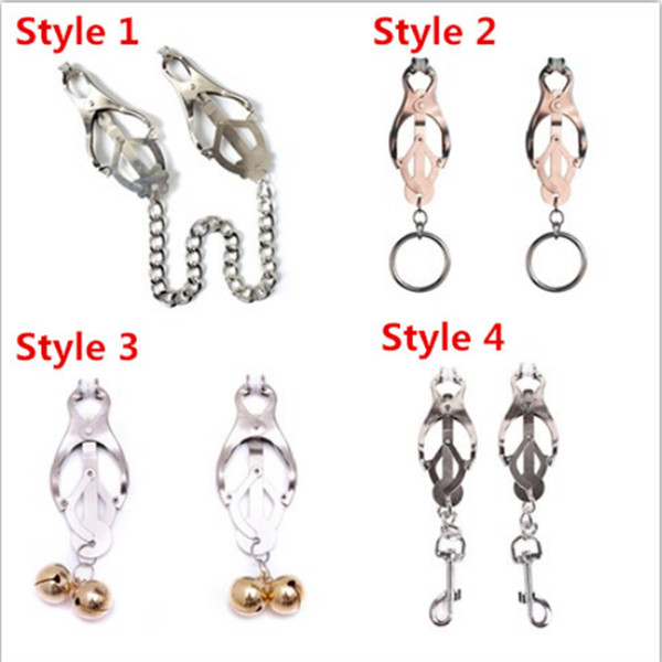 Butterfly Metal Nipple Clamps Bdsm Bondage Juguetes sexuales Labia Clítoris Clips Nipple Clamps Sex Slave BDSM Sex Products