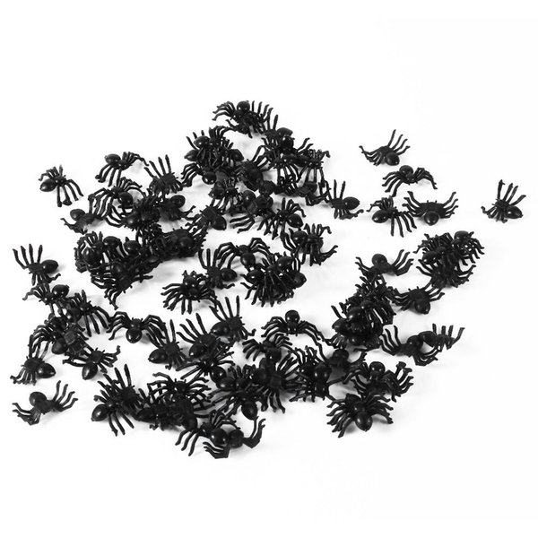10/50/100pcs Halloween Decorative Spiders 2cm Small Black Plastic Fake Spider Toys Novelty Funny Joke Prank Realistic Props