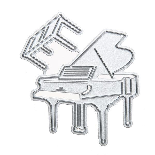 Piano Craft Embossing Metal Cutting Dies Stencil for DIY Scrapbooking Photo Album Decorative Paper Card Cutter