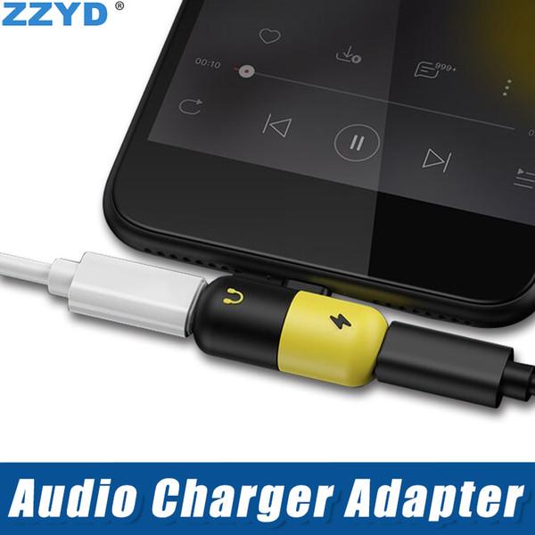 ZZYD محول الهاتف المحمول المصغر 2 في 1 محول الصوت المزدوج للسماعة لأجهزة iPX Xs Max 8 7 مع حقيبة OPP