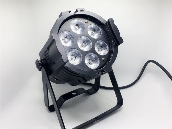 LED Mini Aluminium Strahler LED 7x12W RGBW 4in1 LED Bühnenlicht Disco DJ Licht Strobe Effekt DMX512