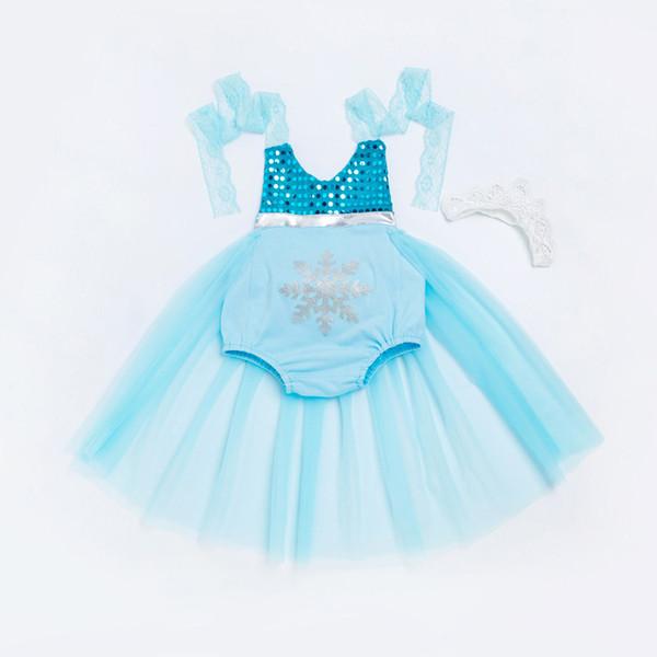Robes de sirène fille bébé dentelle licou robe princesse dessin animé pour soirée anniversaire robes de soirée de Noël costumes enfants avec bandeau