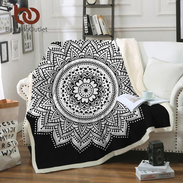 Boho Throw Blankets Amazing Beddingoutlet Soft Velvet Plush Throw Blanket Mandala Print Floral