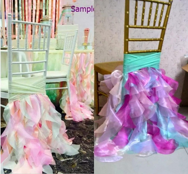 2018 For New Arrival Decoration Colorful Chair Sashes Chair Covers Sample Link Vintage Modern Wedding Supplies
