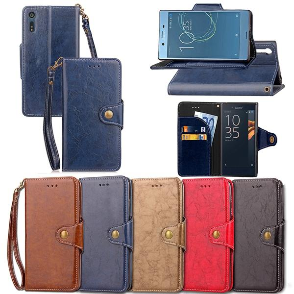 For Sony Xperia XZ XZ1 X1 XZ2 Compact Oneplus 3 OPPO R15 Dream Mirror Standard Retro Oil Wallet Leather Case Stand Flip Phone Cover 50pcs