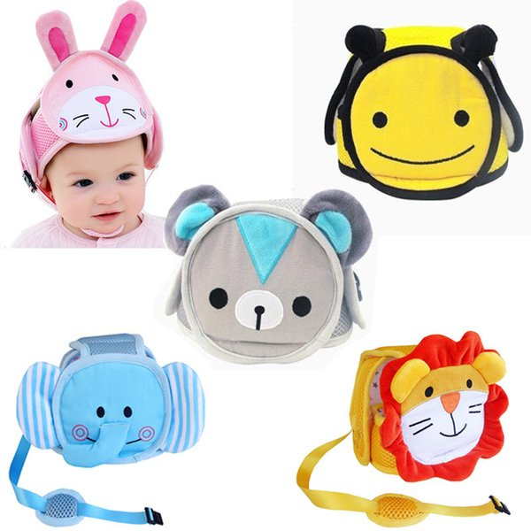 top popular Baby shatter-resistant head protection cap baby toddler bumper cap anti-hit child safety helmet head Walking Assistant 2019