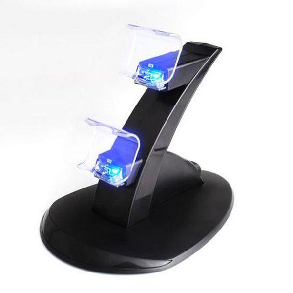 Caricabatterie per controller di gioco Supporto per caricabatterie per Dock Station Dual GamePad Joystick Caricabatterie per PlayStation 4 PS4