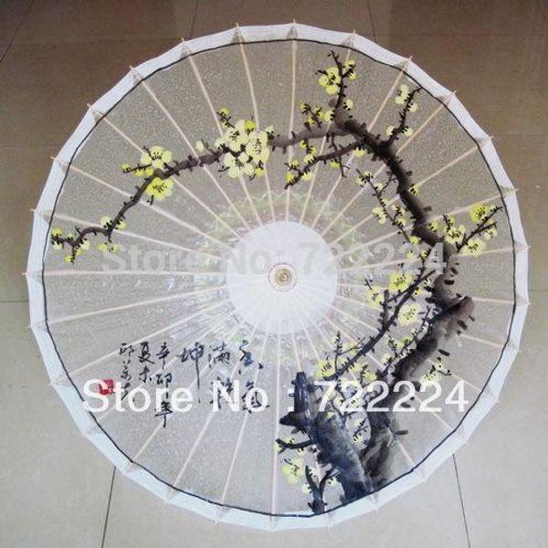 Free shipping dia 84cm high manufacturing process plum blossom rain dance decorative cosplay oiled paper women umbrella