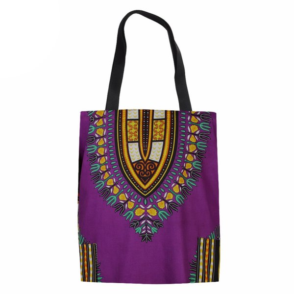 Women Shopping Bag 3D African Traditional Tribal Ethnic Printed Handbags Female Canvas Bags Ladies Shopping Bags Reusable