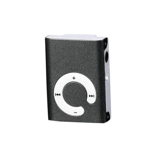 Moda Marca Mini Diseño Clip Metal USB Reproductor de MP3 Soporte Micro SD TF Tarjeta Música Medios #Y