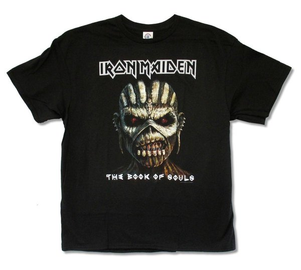 IRON MAIDEN THE BOOK OF THE SOULS METAL ROCK MEN/'s GREY T-SHIRTS SIZES