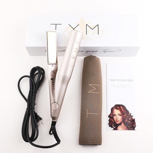 Gold Plated Hair Straighteners Titanium Plates Straightening Ceramic Curler Hair curler Hair Straightener World Cup US EU UK plug