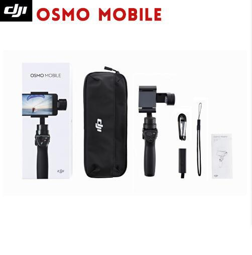 DJI Osmo Mobile 3-Axis Handheld Stabilizer for smart phone 3-axis gimbal system smooths Shoot better photos in low light