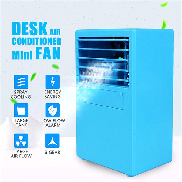 Cooling Air Conditioner Table Fan Mini Desktop Air Cooler 3 Speeds USB Air Conditioner Device Humidifier for Home Office