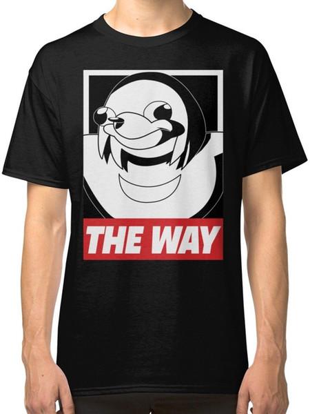 The Way - Ugandan Knuckles camiseta negra para hombre, ropa, camiseta de algodón, camiseta de moda, texto de envío gratis