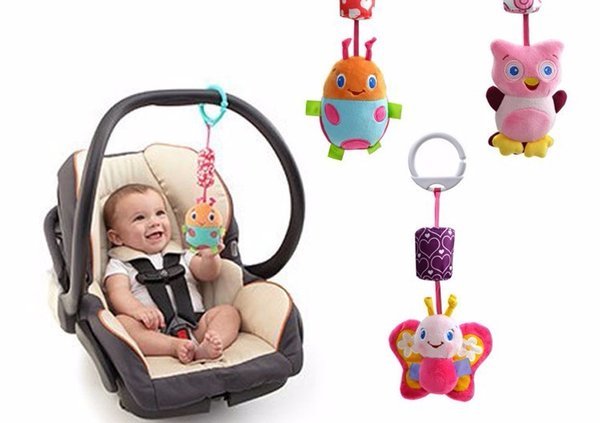 free shipping hot sale baby educational toys New Infant Mobile Baby Plush Toy Bed Wind Chimes Rattles Bell Toy Stroller for Newborn kids toy