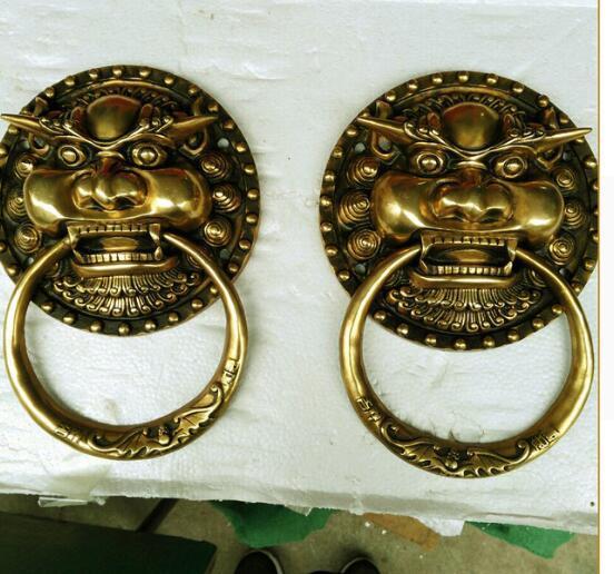 Factory direct Shoutou / copper bronze handle. Large lion Head Knocker