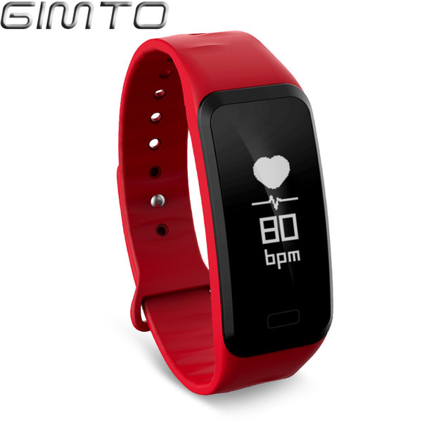 X GIMTO Sport Smart Bracelet Watch blood pressure heart rate sleep monitor blood oxygen pedometer Waterproof Clock for IOS Android