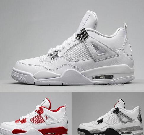 Designer 4s Mens Basketball Shoes 4s White Cement Black Red 4 Superman Fashion Sports Shoes