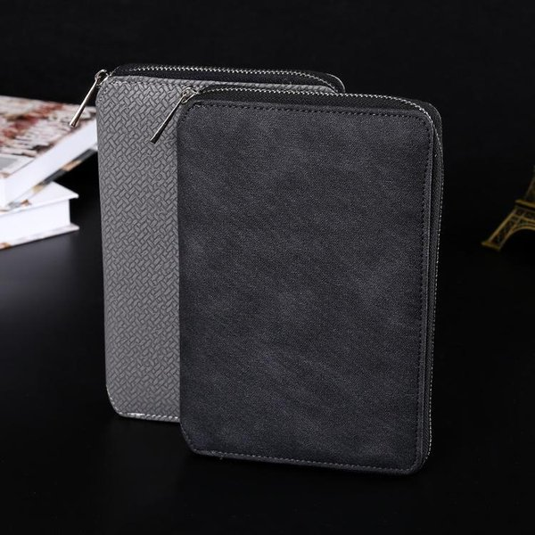 Wholesale- 2017 A5 Size 14*21 cm Zipper Bag Paper Notebook Business Office Stationery Diary Note Book Agenda Journal Planner diary