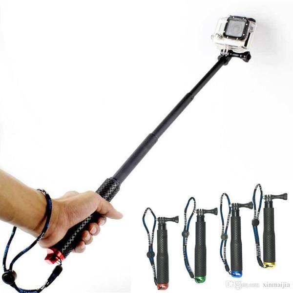 Wasserdichter teleskopischer Selfie-Stock-Pole-sich hin- und herbewegender Griff für Gopro 5/4/3 + / 3/2