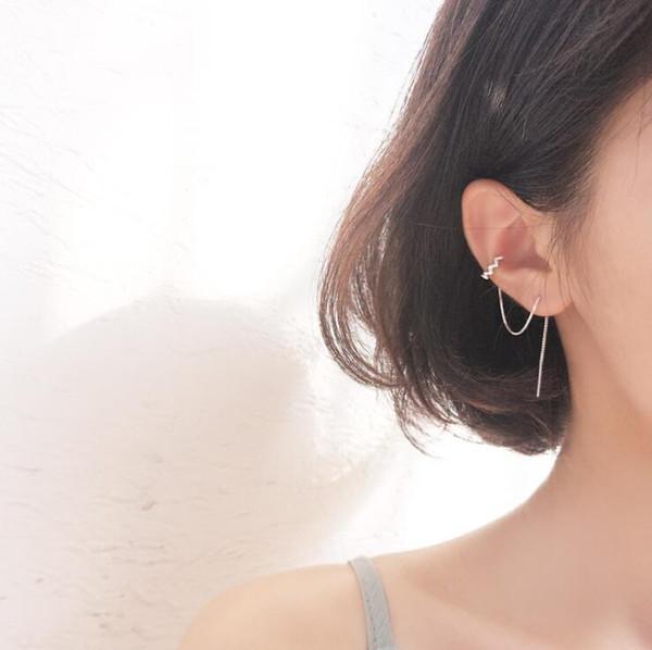 Wholesale Thread Tassel Earrings 100% Guaranteed Solid 925 Sterling Silver Drop Earrings yh5206