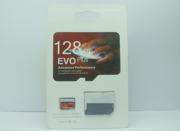 2019 Top Selling popular 128GB 64GB 32GB EVO PRO PLUS microSDXC Micro SD 80MB/s UHS-I Class10 Mobile Memory Card