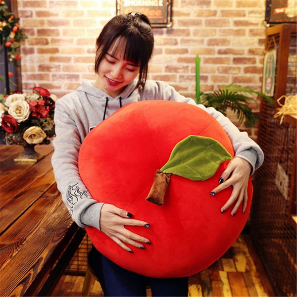 Simulation Fruit Pillow Apple Pear Banana Lemon Strawberry Pear Cute Plush Toy Fruit cushion for Kids Gift Room Decoration DY50657