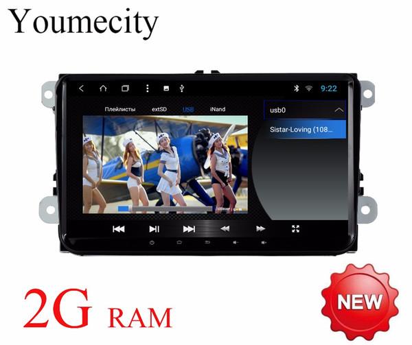 """2G RAM 9 """" VW Android 8.1 Car DVD player Volkswagen GOLF 5 Golf 6 POLO PASSAT SKODA CC JETTA TIGUAN TOURAN GPS"""