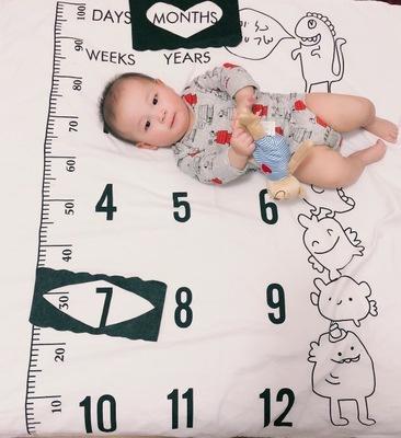Младенческой фон мат часы фон Instagram одеяло младенческой ребенка веха одеяло фото фотография опора 100X100 см