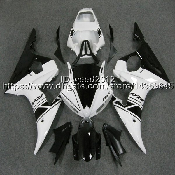 5Gifts+Free gifts black white YZF-R6 2003 2004 2005 motorcycle ABS Plastic Body kit for YAMAHA YZFR6 2003 2004 2005 bodywork Fairing