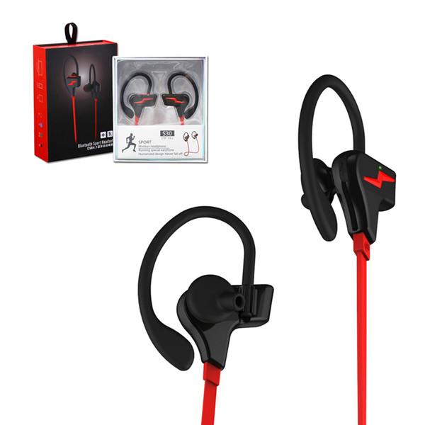 S30 Lujo Estéreo Auriculares Inalámbricos Deporte Impermeable Auricular Moda Correr Ducha Auriculares Estilo de Oreja Colgada Para Teléfonos Universales