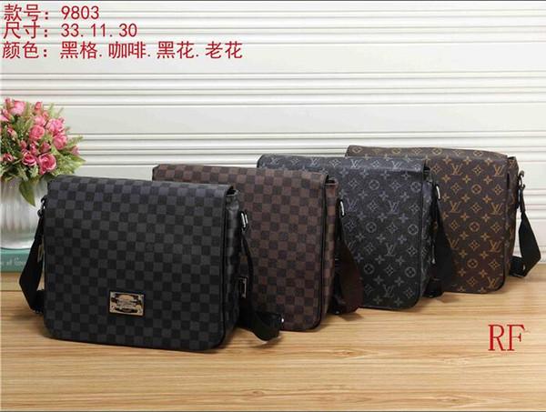 2018 uomini del progettista di marca borsa in vera pelle nera valigetta borsa a tracolla portatile del computer portatile borsa maschile desginer borse portafogli con etichetta