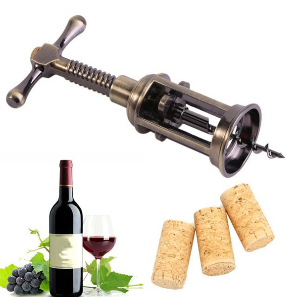 Creative Multifunctional Mini Outdoor Red Wine Bottle Opener Zinc Alloy Vintage Retro Red Grape Wine Corkscrew Home Party Tools NB