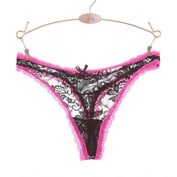 f389b7b6dcd Ixuejie 6Pcs Lot Sexy Lace Women Panties Low Waist Hollow Pink Panties  Underwear Fashion G String Thongs Size M L XL XXL Tanga