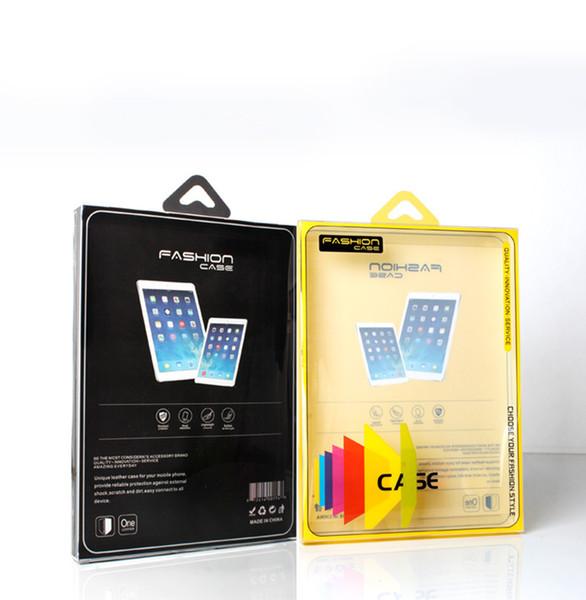 10 pcs En Gros Nouvelle Arrivée pvc boîte d'emballage pour Pad air 234 en cuir couverture pour Samsung Tab en cuir 9''case