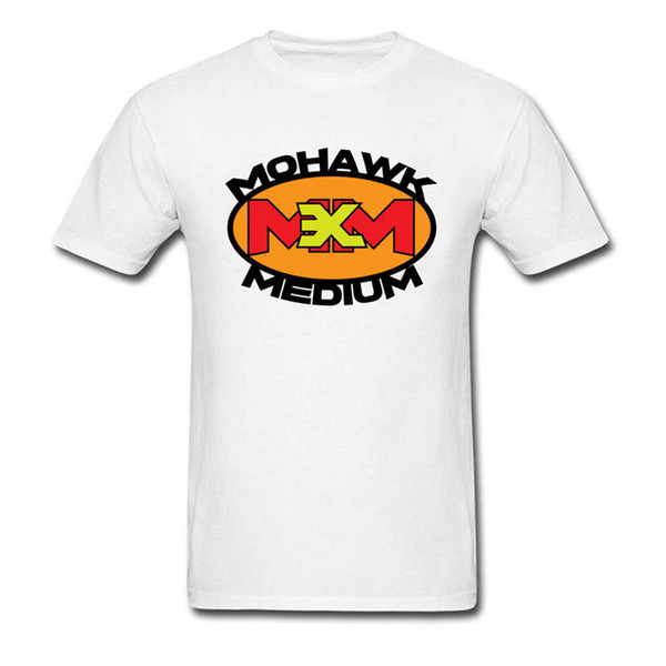 Футболка с принтом Смешные футболки с круглым вырезом для мужчин ирокез Средняя обычная короткая футболка
