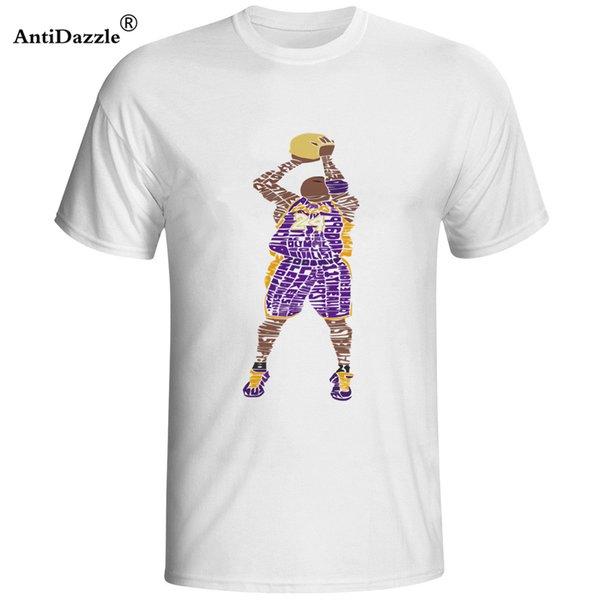 Antidazzle 2017 de Moda de Nova Kobe Bryant Atirar a bola Camisetas de Manga Curta camiseta hacer homem
