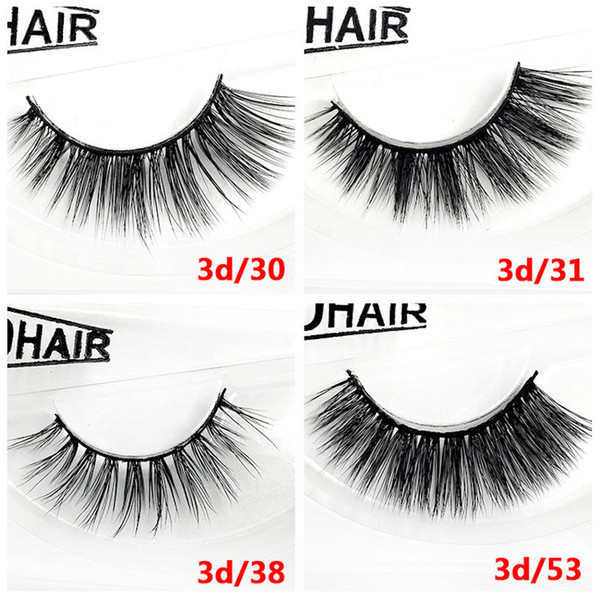 12 styles Selling 1pair/lot 100% Real Siberian 3D Mink Full Strip False Eyelash Long Individual Eyelashes Mink Lashes Extension free DHL