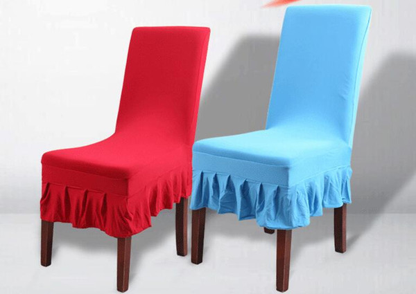 Magnificent Wedding Chair Covers Universal Size Simple Modern Pure Color General Elastic Skirt Restaurant Dining Chair Covers Wa0106 Wingback Chair Cover Designer Creativecarmelina Interior Chair Design Creativecarmelinacom