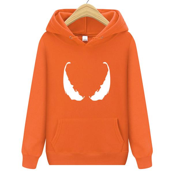 Venom Hoodie Sweatshirts Anime Robust Cool Schwarz Grau Herbst Winter Tops Plus Samt Lässig Dick Hoody Urlaub geschenk