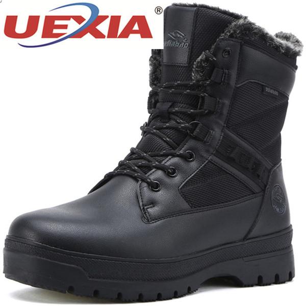 Großhandel UEXIA Fashion Winter Schneeschuhe Herren Schuhe Warm Winter Plüsch Fell Herren Baumwolle Turnschuhe Mid Calf Lässige Herren Stiefel Schuhe