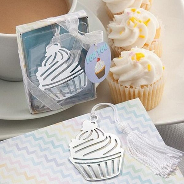 Cupcake Metal Bookmark With Tassel Wedding Favors And Gifts Party Souvenirs Baby Shower Favor Supplies LX3609