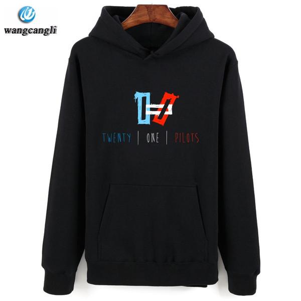2017 New 21 Pilots Hoodie Streetwear Hip Hop red Black gray Hooded Sweatshirt Mens Hoodies and Sweatshirts Size XXS-4XL
