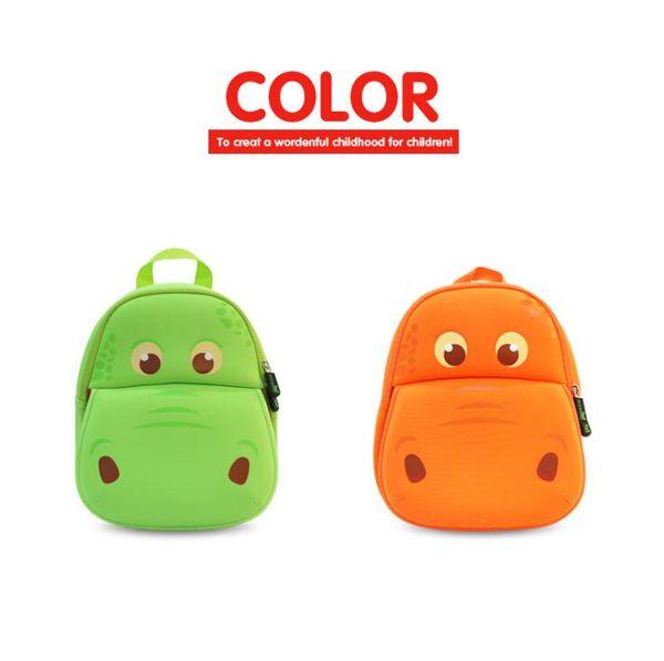 28*26*12cm Hippo Cartoon Student School Bag Shoulder Bag Season Children Backpacks Shoulders Bag Kids Outdoor Bags CCA10250 30pcs