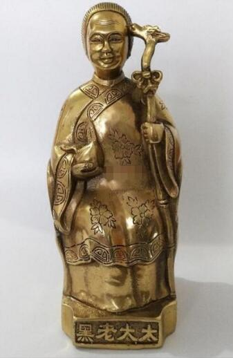 The old lady black copper statue ornaments Black Mother Buddha Xian Ping Feng Shui bronze to ward off evil spi