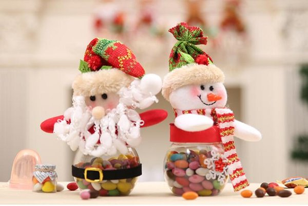 Christmas Candy Decorations.Santa Claus Snowman Candy Bottle Christmas Candy Pot Candy Store Decorations Christmas Gift W186 Kids Favours Kids Party Decorations From