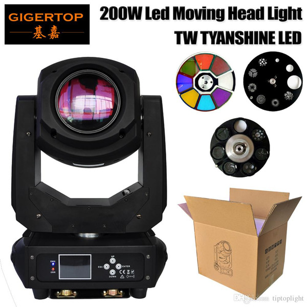 top popular Gigertop Stage Light 200W Professional Lighting Spot 200 Watt Gobo LED Moving Head Aura Effect DMX for DJ Disco Party Stage Live Show 2021