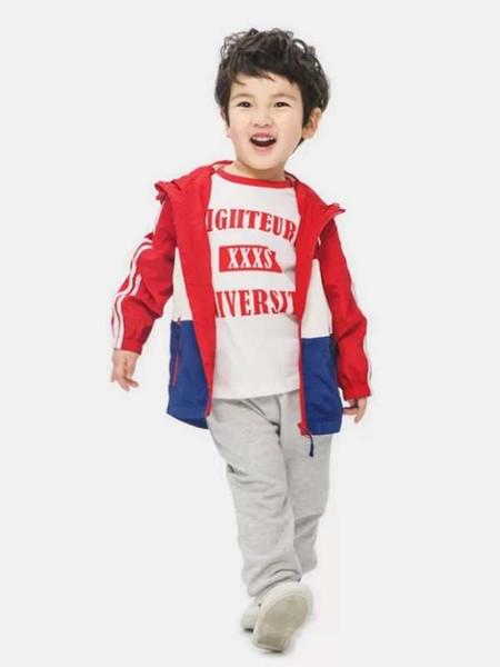 top popular Boy's windbreaker jacket 2018 new autumn clothes, spring and autumn children's wear, children's baby boy autumn. 2019